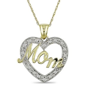 Mothers-Day-Gift-Idea-Gifts-for-Mom-Mothers-Day-Gift-Guide-Diamond-Accent-Heart-Mom-Pendant-In-10K-White-And-Yellow-Gold-300x300